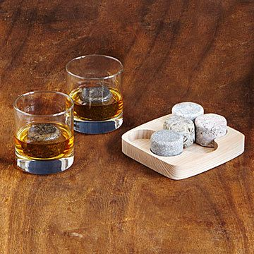 Serve your #drinks #whisky #wine on actual #rocks with these handsome #graniteDrinkChillers #gifts #entertaining #hostsGift #giftForHim #giftIdeas #ad