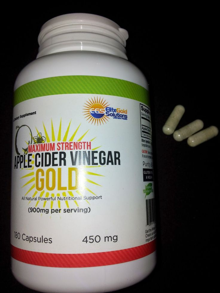 how to take apple cider vinegar capsules