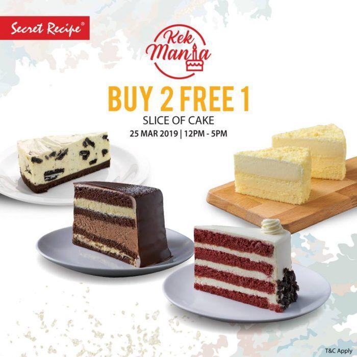 25 Mar 2019 Secret Recipe Cake Buy 2 Free 1 Promo Cake Recipes Secret Recipe Recipes