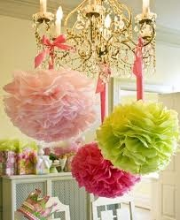 beautiful: Lilly Pulitzer, Paper Pom Pom, Birthday Parties, Pompom, Color, Lillypulitzer, Paper Flowers, Parties Ideas, Tissue Paper