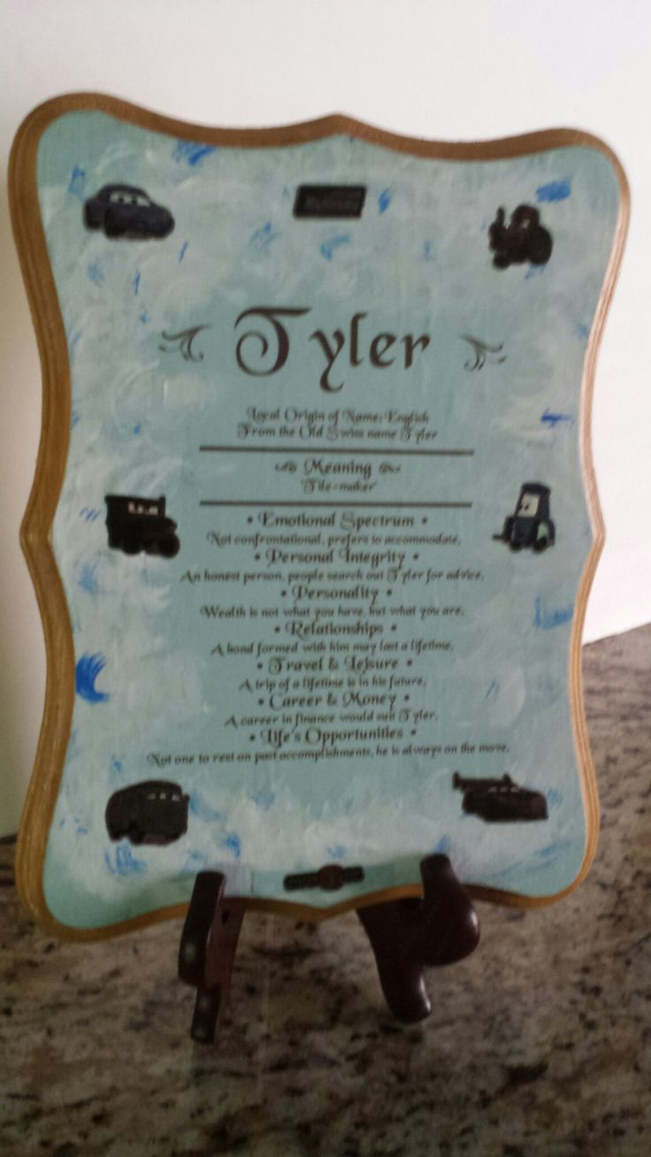 Plaques with name meanings - Tyler Name Meaning Plaque By Expressivedecors On Etsy