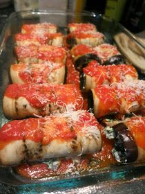 A Dash of Style, with a Sweet Smile: What's to Eat?? Skinny Eggplant Rollatini