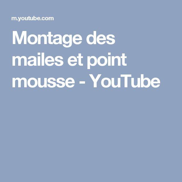 Montage des mailes et point mousse - YouTube