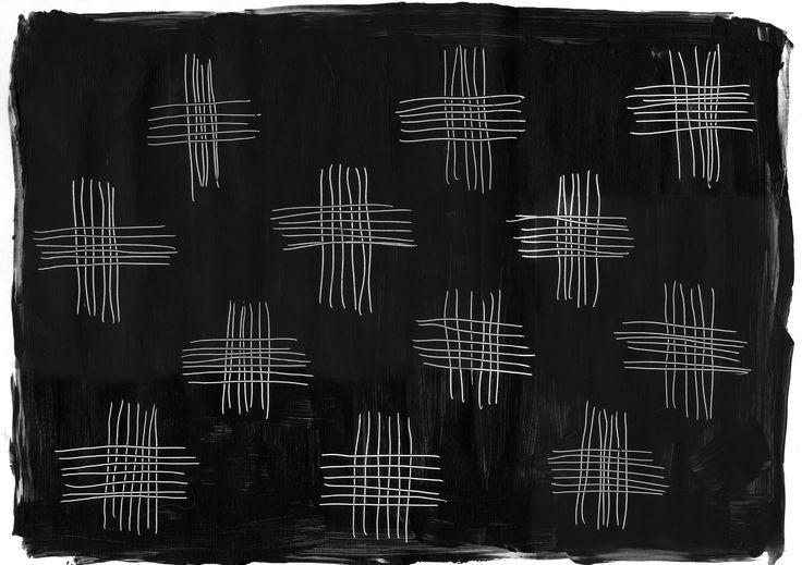 """""""Farsi"""", original artwork by Erja Hirvi for Samuji pre-fall 15"""