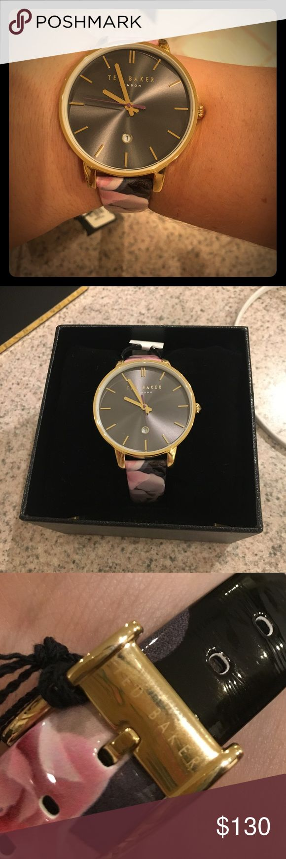 NWT Ted Baker floral watch Gorgeous Ted Baker watch. NWT, box and authenticity card. MSRP $180, and currently being sold on Nordstrom for $155. Ted Baker London Accessories Watches