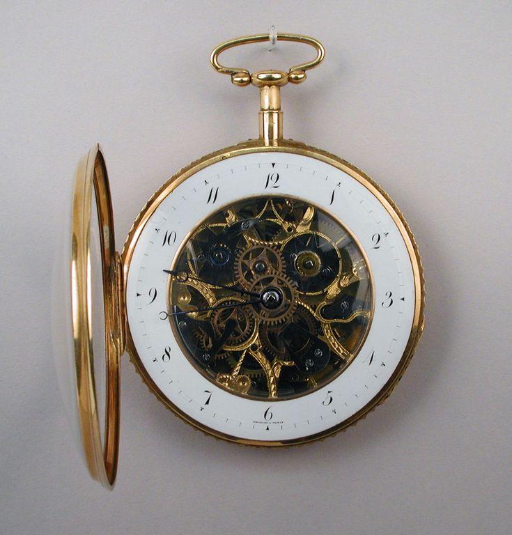 1810. Watch. Swiss, La Chaux-de-Fonds. Gold, glass. metmuseum