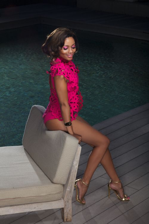 Bonang Matheba   What are the three most GLAMOURous things in your wardrobe?  'A Givenchy Antinoga bag, thigh-high Tom Ford boots and black Giuseppe Zanotti pumps.'