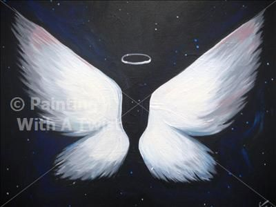 Angel wings lexington ky painting class painting with for Painting with a twist lexington