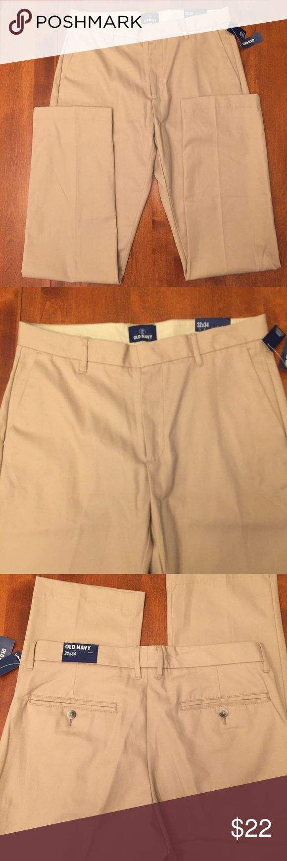 NWT Old Navy Flat front Khakis. Size 32 x 34 Old Navy flat front khakis. Size 32 x 34 Old Navy Pants Chinos & Khakis