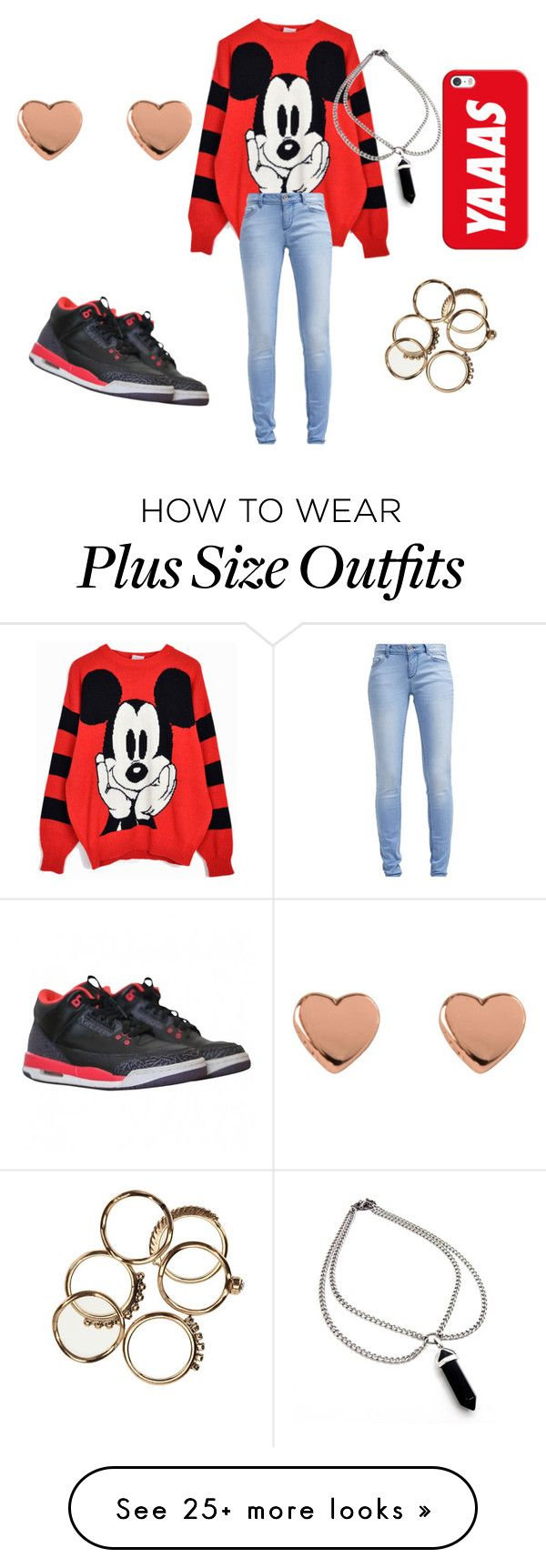 """"""""""" by mc217008 on Polyvore featuring Disney, TOM TAILOR, NIKE, Ted Baker and Casetify"""