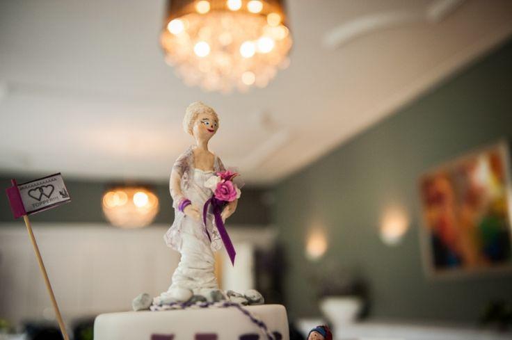 Bruidstaart grappige topper