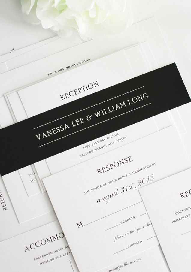 email wedding invitation to work colleagues%0A Black and white wedding invitations