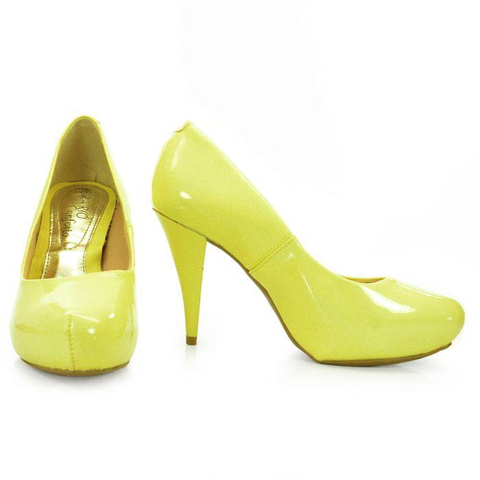 sapatos scarpin amarelo 5