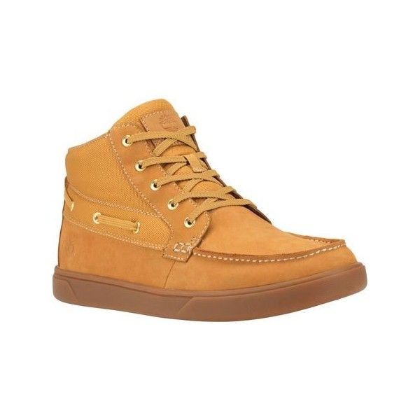 Men's Timberland Groveton Boat Chukka Boot - Wheat Nubuck Ankle Boots  ($110) ❤ liked