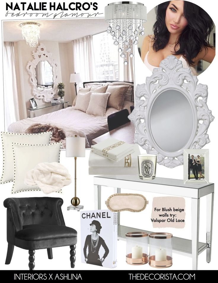 Get the look: Natalie Halcro angelic glamour bedroom — The Decorista