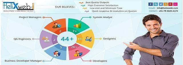 Helixwebi is  a Creative Web Design And Web Development Company in Ahmadabad.It Provides Total Web Solutions including Web Design ,Website  Development,SEO/SMO, E-Commerce Solution & Mobile App Development in India.