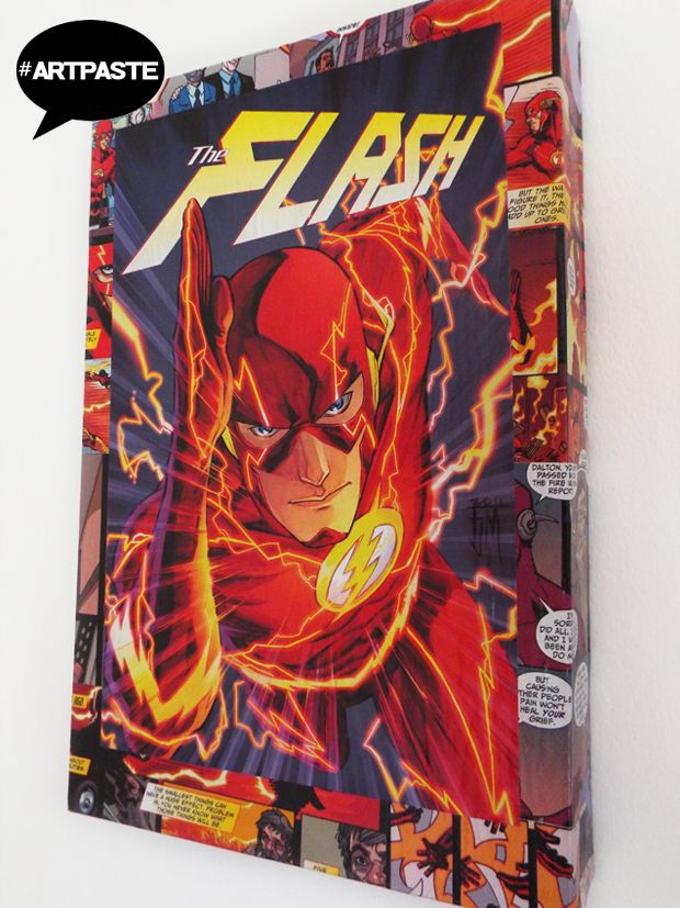 The flash mash up made from uk reprints of new52 feat the cover art by