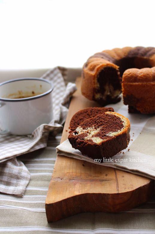 Κέικ Μαρμπρέ Βανίλια και Σοκολάτα