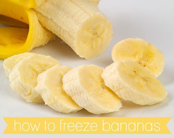 DON'T WASTE BANANAS – FREEZE THEM! PLUS MY FAVOURITE BANANA RECIPES