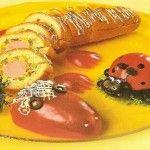 Бутерброд Ящерка Для приготовления блюда Бутерброд Ящерка необходимы следующие ингредиенты: батон белого хлеба длинный (багет), 4 сосиски, 120 гр плавленого мягкого сыра, 120 гр масла сливочного, 2 маринованных огурца, 3 перца сладких разного цвета, петрушка, 6 столовых ложек кукурузных хлопьев.