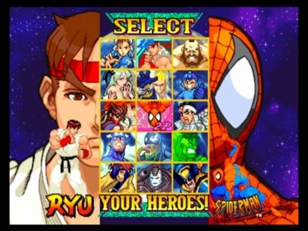 Marvel Vs. Capcom | 12 Classic Character Select Screens To Make You Long For The Arcade