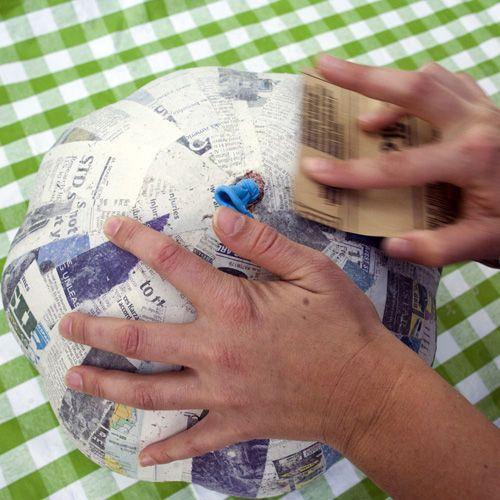 1000 ideas about paper mache pumpkin on pinterest for How to make paper mache waterproof