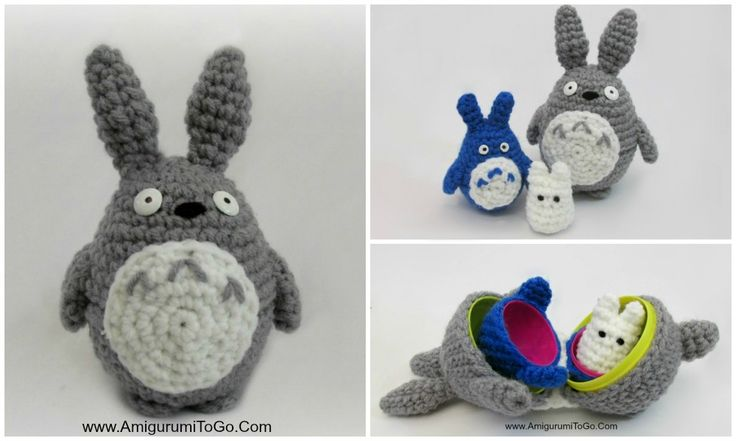 Stacking Totoros DIY Made With Plastic Easter Eggs ~ Amigurumi To Go