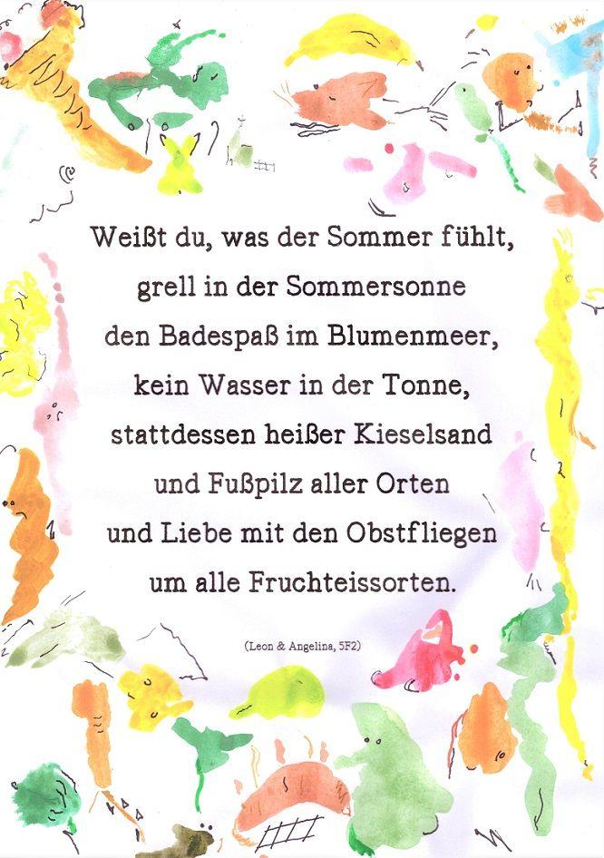 Klasse 5 Gymnasium Melle Deutschunterricht Gedichte Von