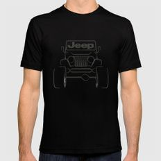 Jeep only Black MEDIUM Mens Fitted Tee