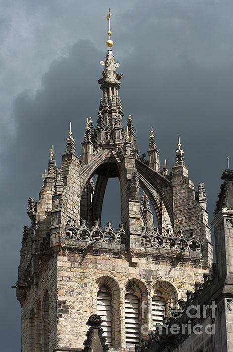 St. Giles Cathedral under stormy sky, Royal Mile, Edinburgh