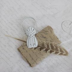 Fransk klämma, clips - antikvit