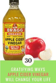 ACV of the most versatile products that was ever created is sitting in the condiment cabinet. Here are 30 magnificent benefits of apple cider vinegar. | IdeaHacks.com