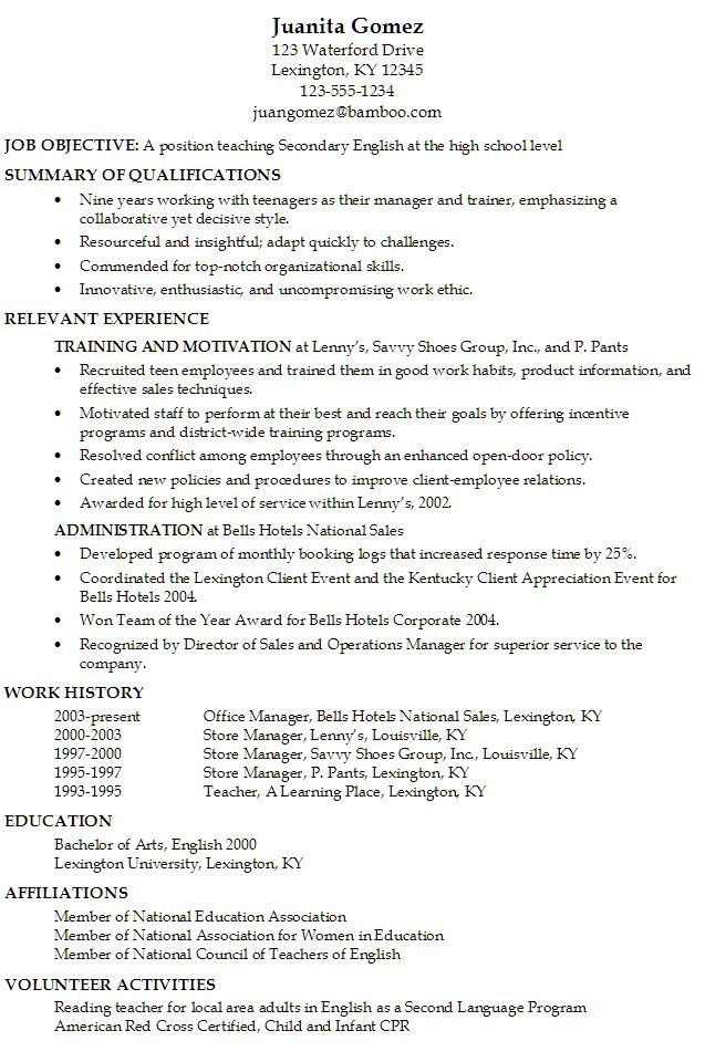 Objective For Resume For High School Studentfree Resume