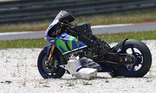 Lorenzo escapa de una violenta caída. #MotoGP #Noticias #Yamaha #Michelin #Accidente