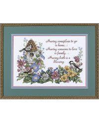 Flowery Verse Stamped Kit