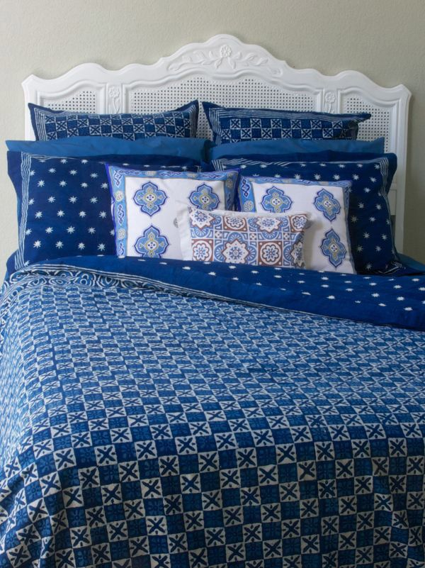 designer blue batik bedding twin size duvet cover