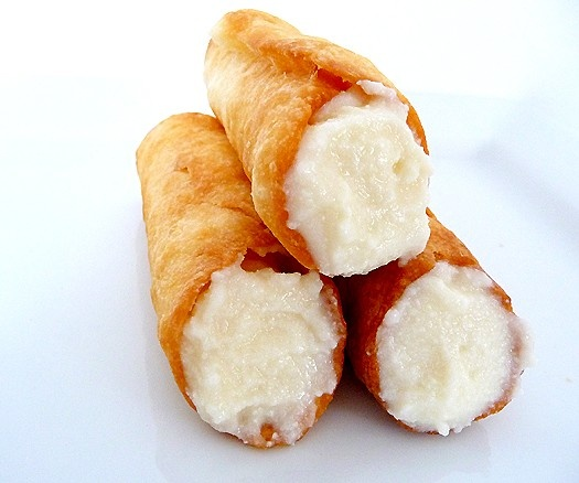 Homemade Cannolis! In my cookbook, you will find the best cannoli filling...