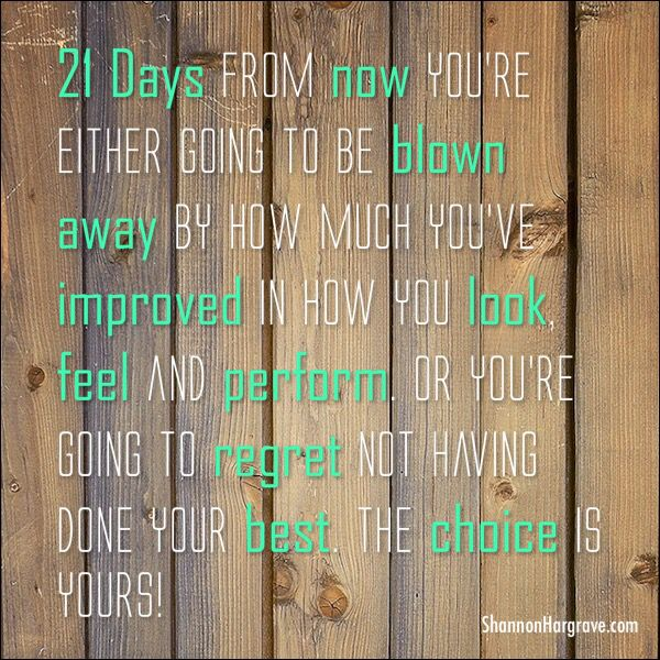 It takes 21 days to make or break a habit... Wanna break my eating habit and wanna make my eating and workout habits better