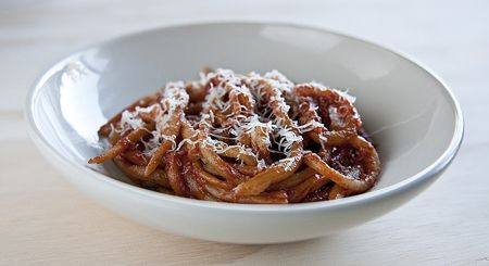 homemade pici pasta