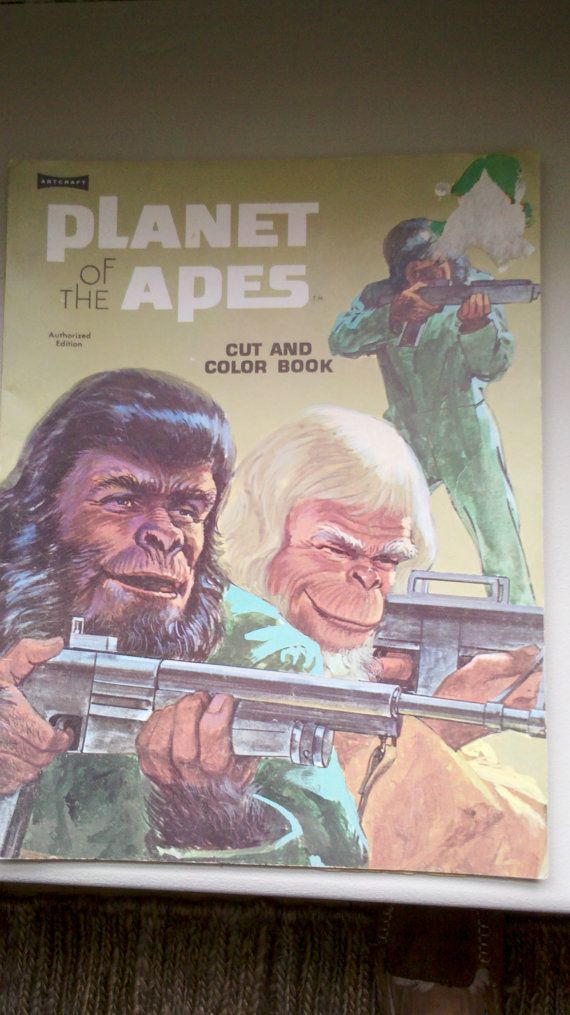 Set of 3 Planet of the Apes Vintage by PrettiUniqueVintage on Etsy