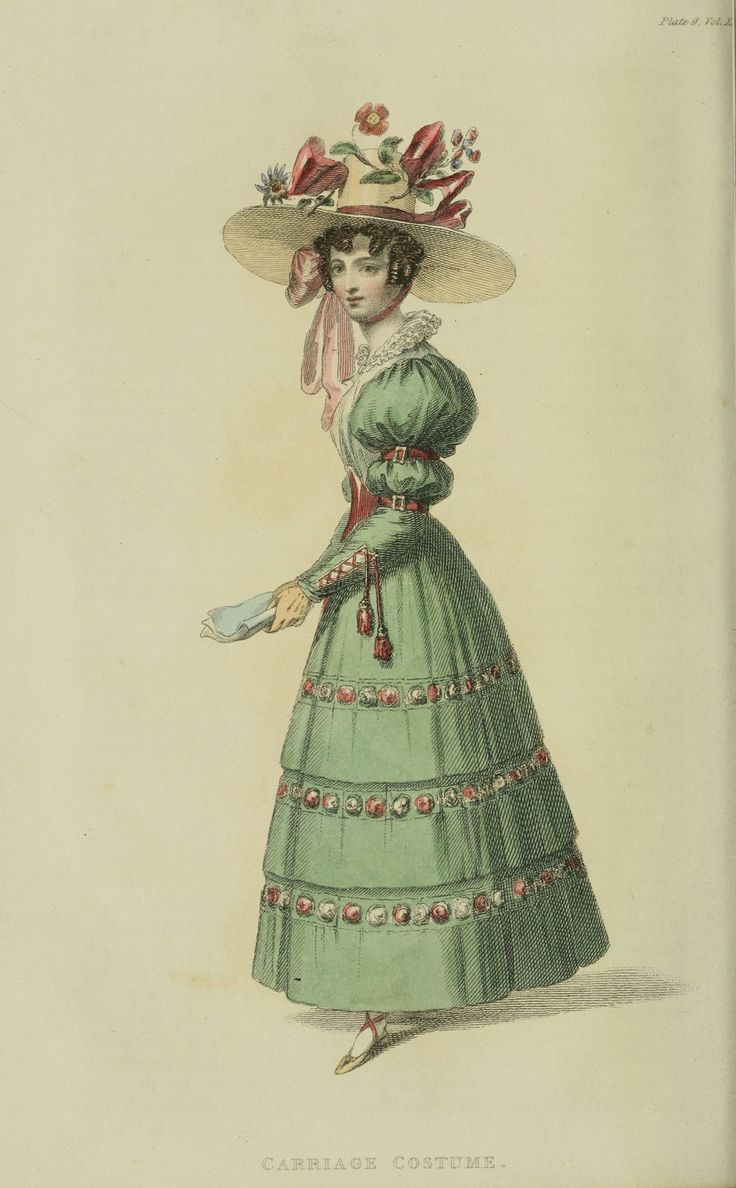 Regency fashion plate the secret dreamworld of a jane austen fan - Carriage Dress 1828 Uk Ackermann S Repository Notice The Increasingly Ornate Sleeves Accentuated Waist And The Broad Brimmed Hat