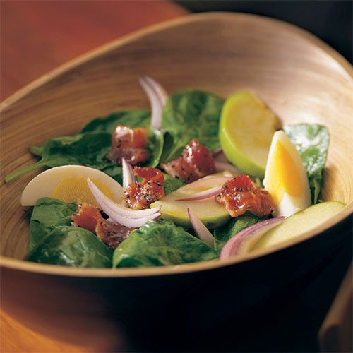 spinach salad with candied pepper bacon wilted spinach salad spinach ...