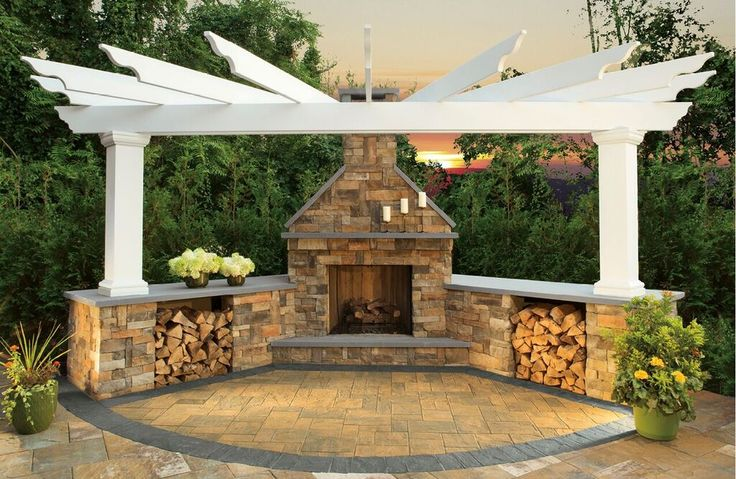 Thinking of adding a fireplace to your backyard patio or outdoor living space? Click here to see all of the fireplace kits from Cambridge Pavingstones with Armortec.