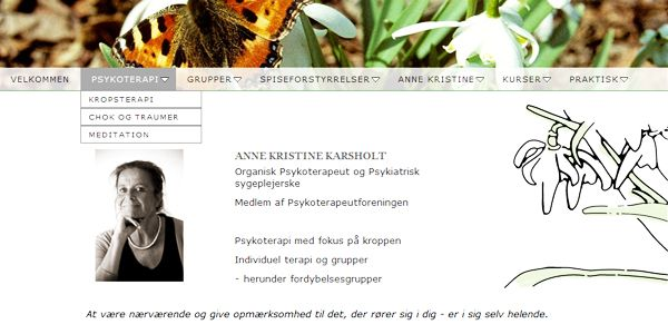 Webdesign til terapeut