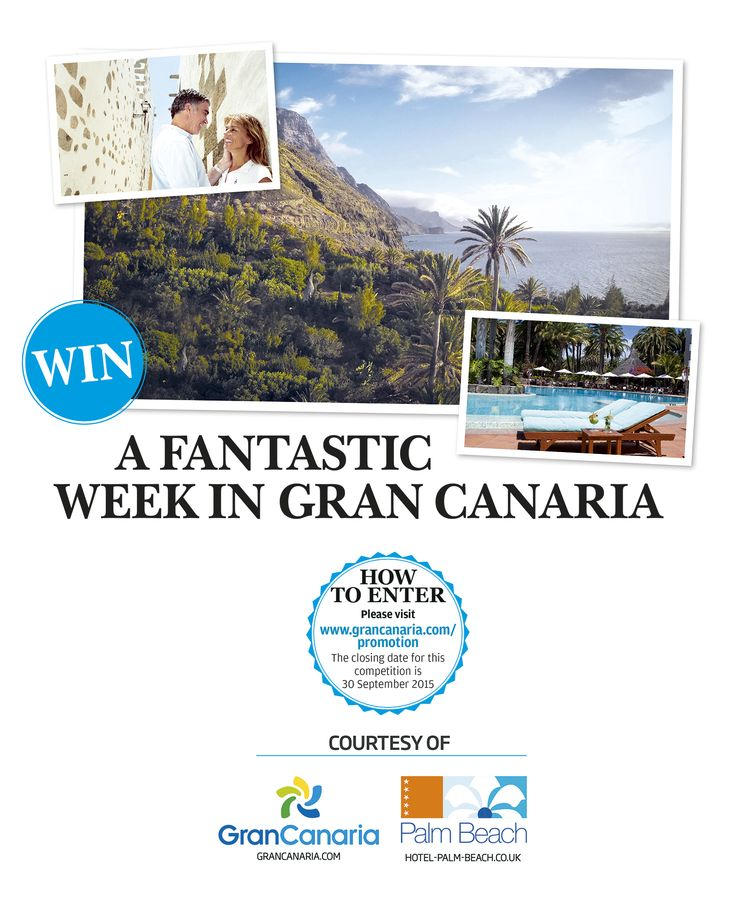 Win a holiday! Don't miss your chance to visit sunny Gran Canaria!