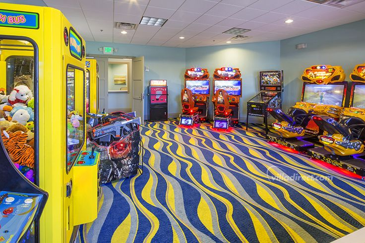 The kids will love the full-size arcade at Champion's Gate Resort: https://www.villadirect.com/orlando-communities-resorts/ChampionsGate.html