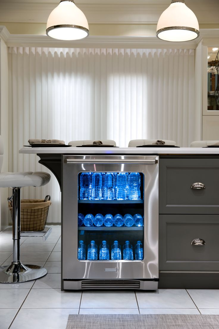 #CandiceTellsAll  #WatchandPin  After the remodeling by Candice, this kitchen has a bar seating area with built in beverage refrigerator.  http://www.hgtv.com/candice-tells-all/show/index.html?soc=pinterest