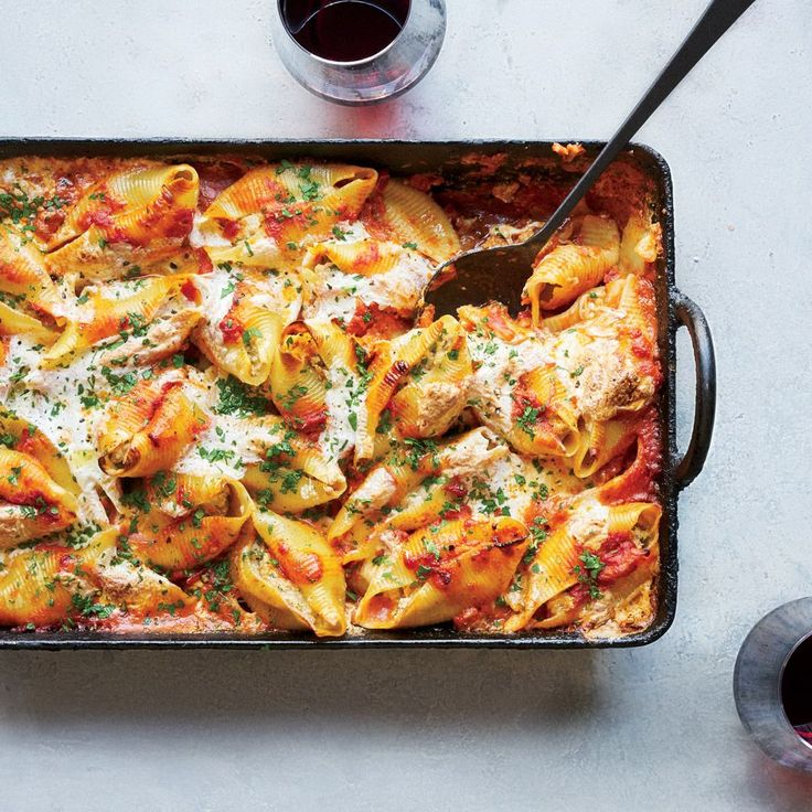 These best-ever stuffed shells have a filling that's both meaty and cheesy. Get the recipe at Food & Wine.