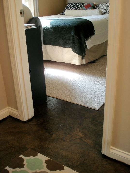 inexpensive way to update your floors - this is on my living room projects list.  The Ultimate Brown Paper Flooring Guide