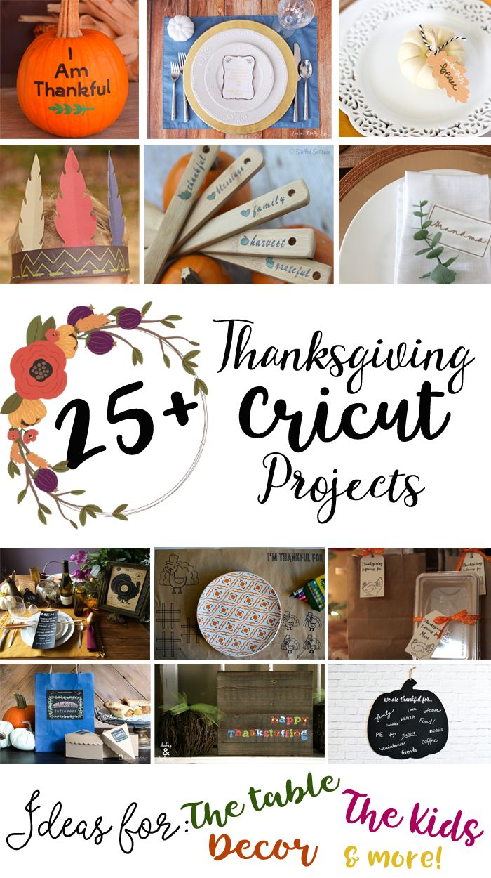 Thanksgiving Projects Made With The Cricut Explore Air 2